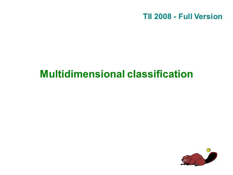 TII 2008 - Full Version Multidimensional classification