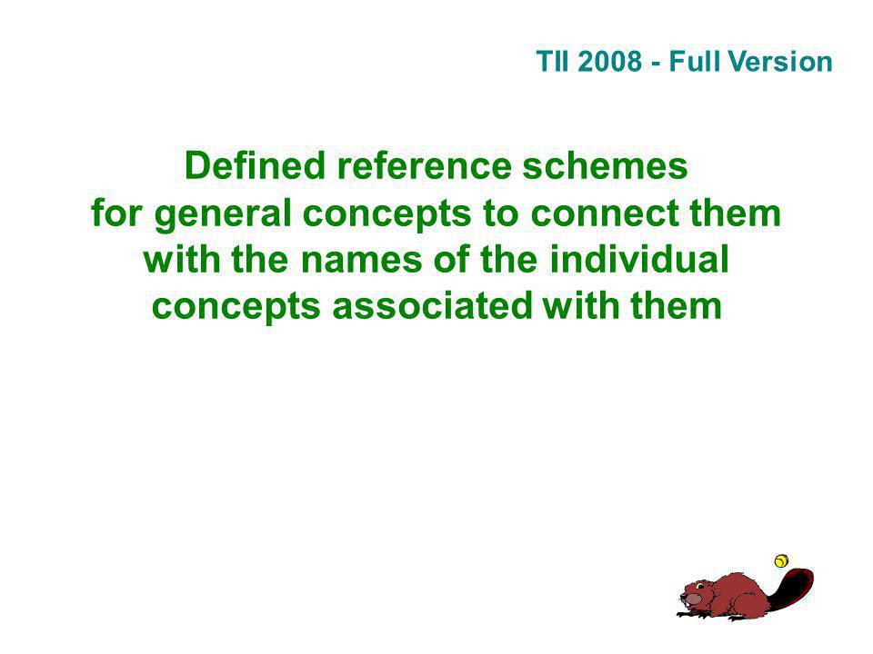 TII 2008 - Full Version Defined reference schemes for general concepts to connect them with the names of the individual concepts associated with them