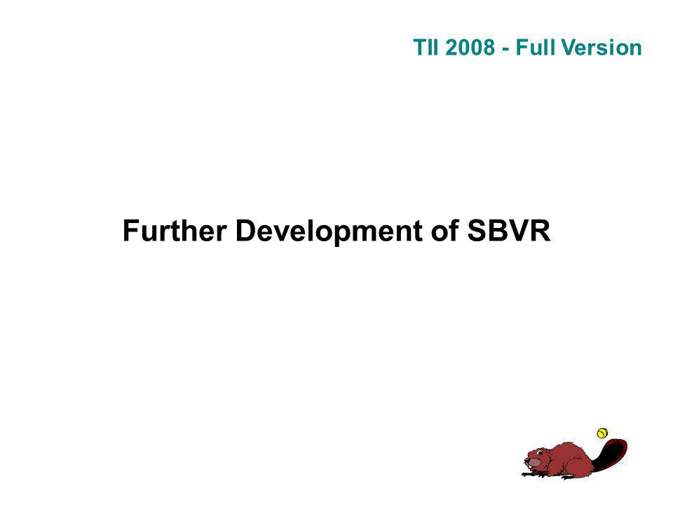 TII 2008 - Full Version Further Development of SBVR