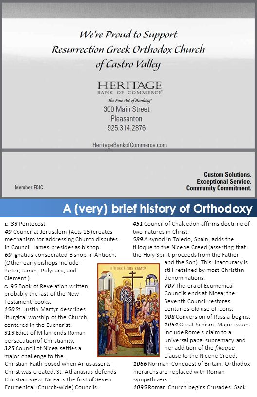 A (very) brief history of Orthodoxy c.