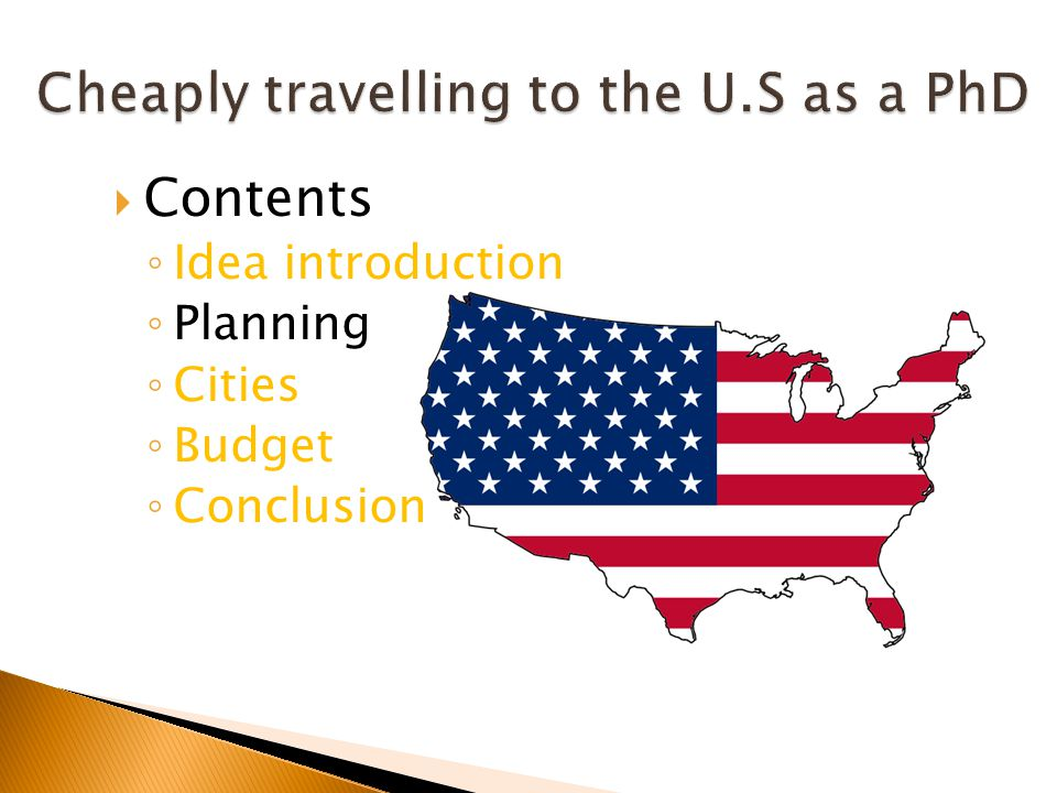 Contents Idea introduction Planning Cities Budget Conclusion