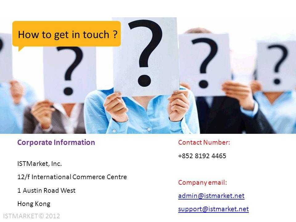 Corporate Information ISTMarket, Inc.
