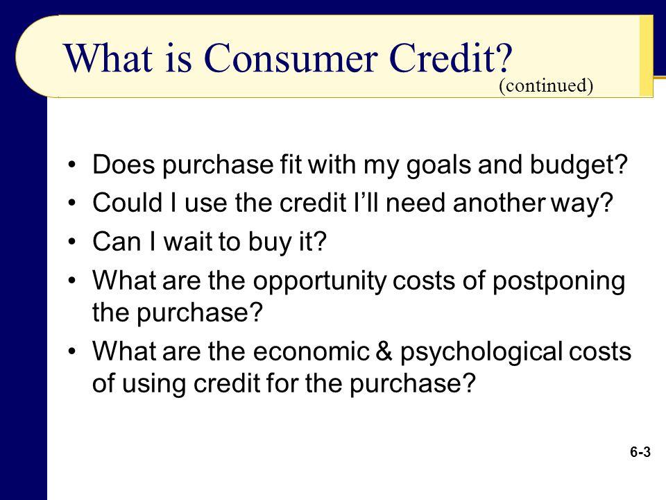Total Consumer Credit
