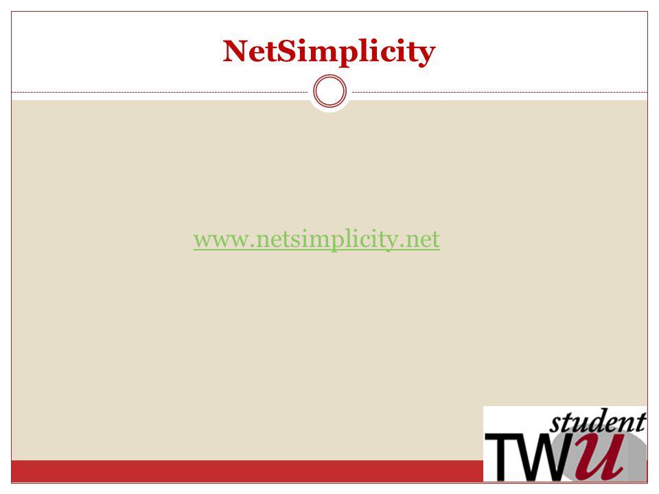 NetSimplicity www.netsimplicity.net