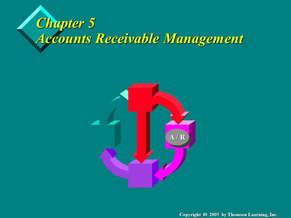 Copyright 2005 by Thomson Learning, Inc. Chapter 5 Accounts Receivable Management A / R