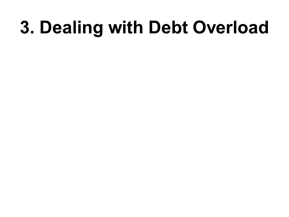 3. Dealing with Debt Overload