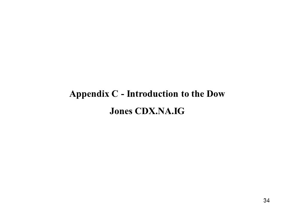 34 Appendix C -Introduction to the Dow Jones CDX.NA.IG