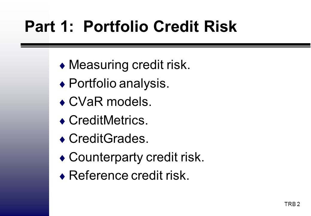 TRB 23 Credit Monitor I Credit Monitor provides M-KMVs EDF credit measures on corporate and financial firms globally, updated on a monthly basis with up to five years of historical EDF information.