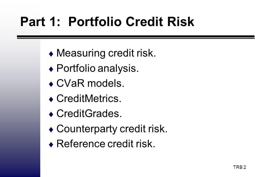 TRB 63 CreditGrades II