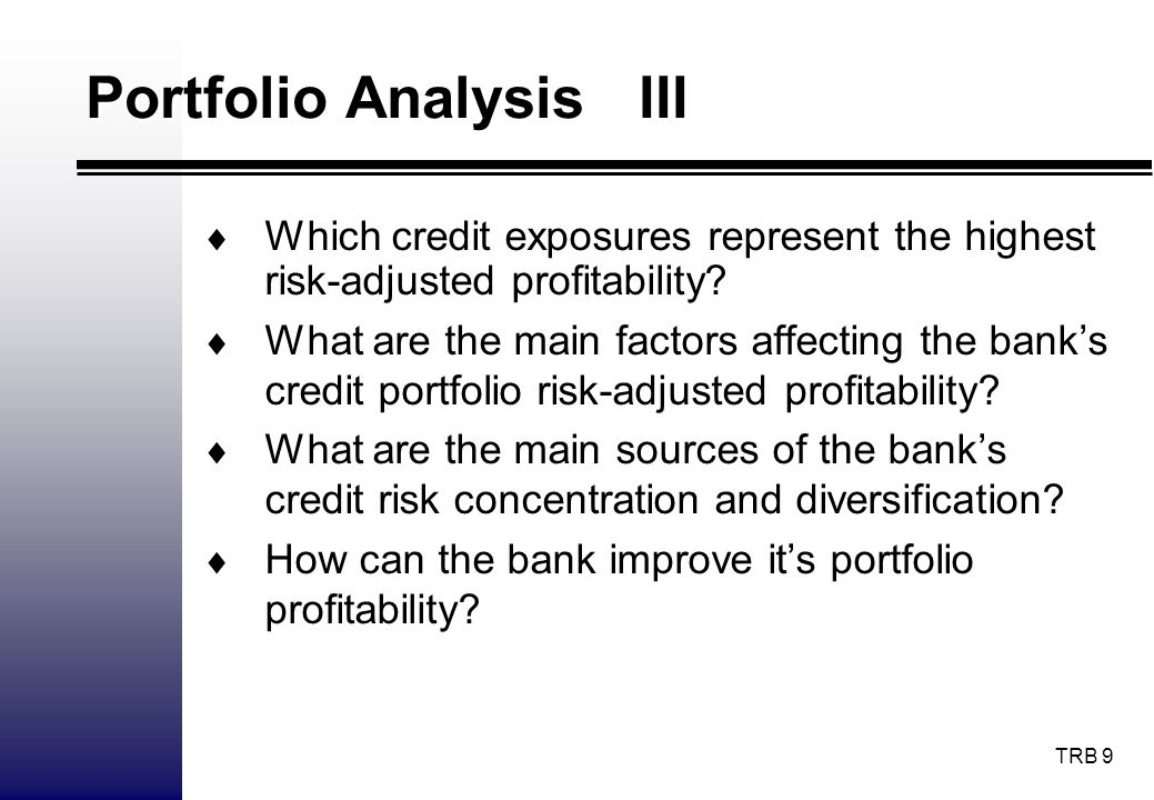 TRB 10 CVaR Models I Types of Credit Risk Models: Risk aggregation: - Top-down, Aggregate risk in consumer, credit card, etc., portfolios; default rates for entire portfolios - Bottom-up, Individual asset level; default rates for individual obligors.