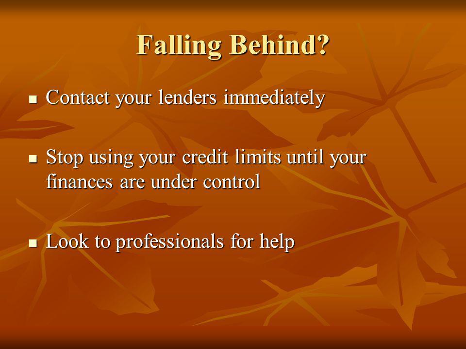 Falling Behind.