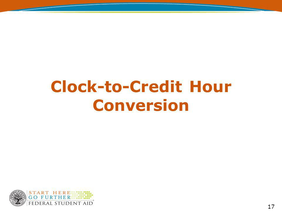 Clock-to-Credit Hour Conversion 17