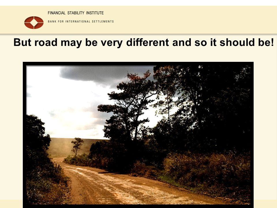 But road may be very different and so it should be!