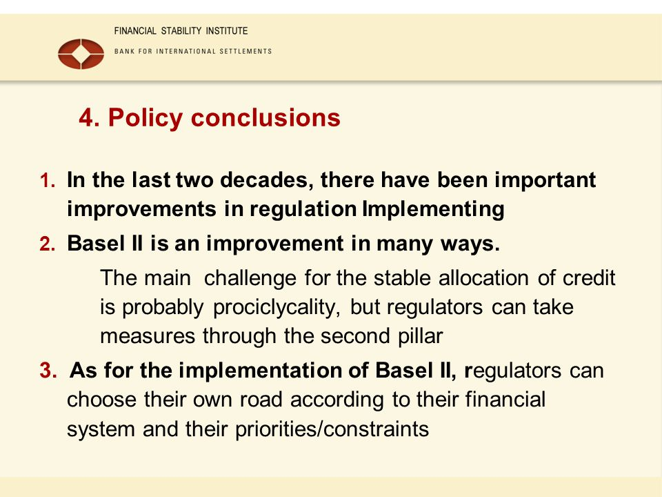 1. In the last two decades, there have been important improvements in regulation Implementing 2.