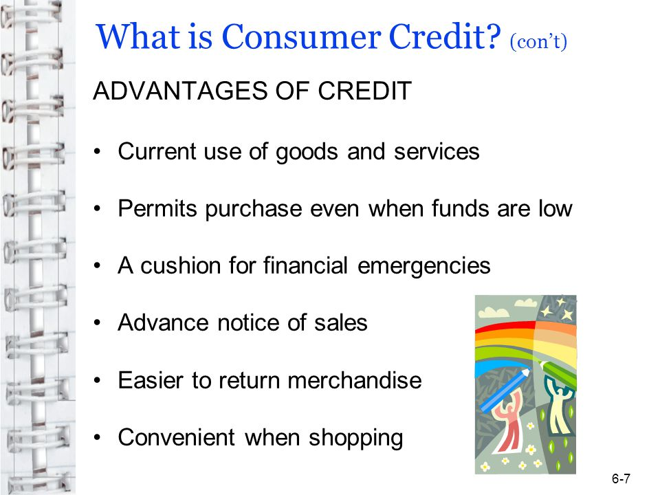 What is Consumer Credit.