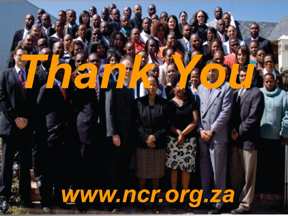 10 Thank You www.ncr.org.za