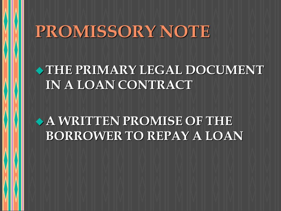 u NOTES CAN BE SECURED OR UNSECURED u THE PURPOSE OF SECURITY OR COLLATERAL IS TO REDUCE THE DEFAULT RISK