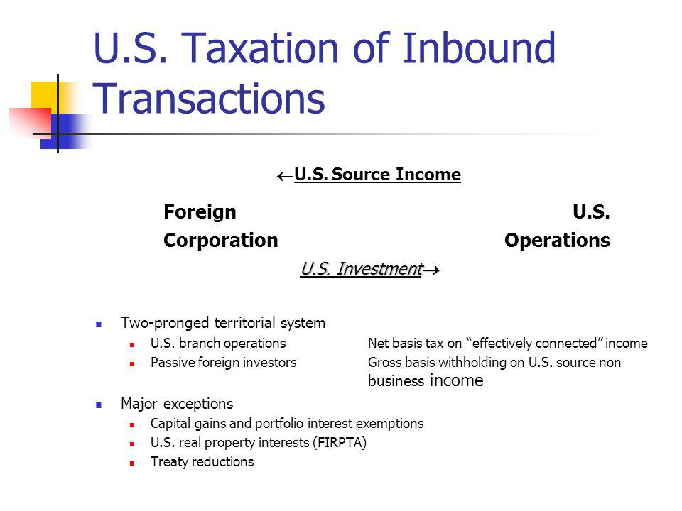 Hybrid Entities Classification of Foreign Entity Foreign tax purposes, a corporation U.S.