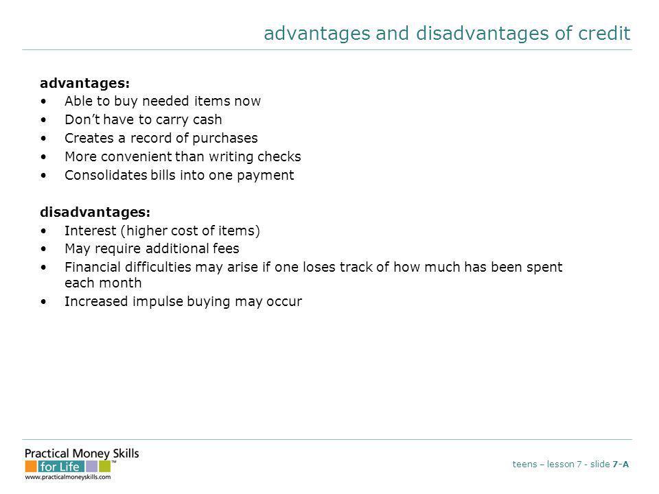 the three Cs teens – lesson 7 - slide 7-B characterwill you repay the debt.