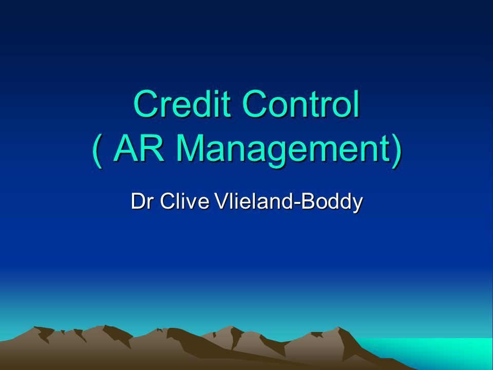 Credit Standards A larger credit department Additional clerical work Servicing additional accounts Bad-debt losses Opportunity costs (Loss of the use of the money) Costs arising from relaxing credit standards