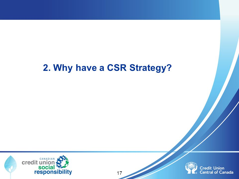 2. Why have a CSR Strategy? 17