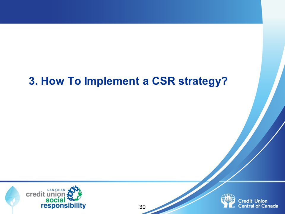 3. How To Implement a CSR strategy? 30