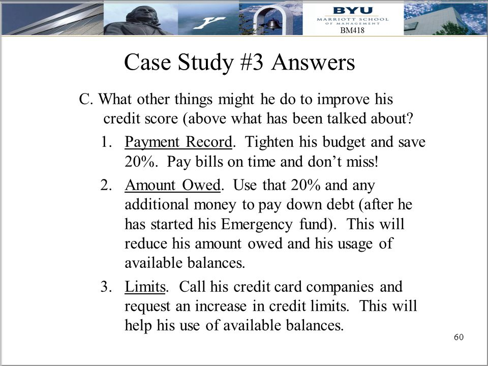 60 Case Study #3 Answers C.
