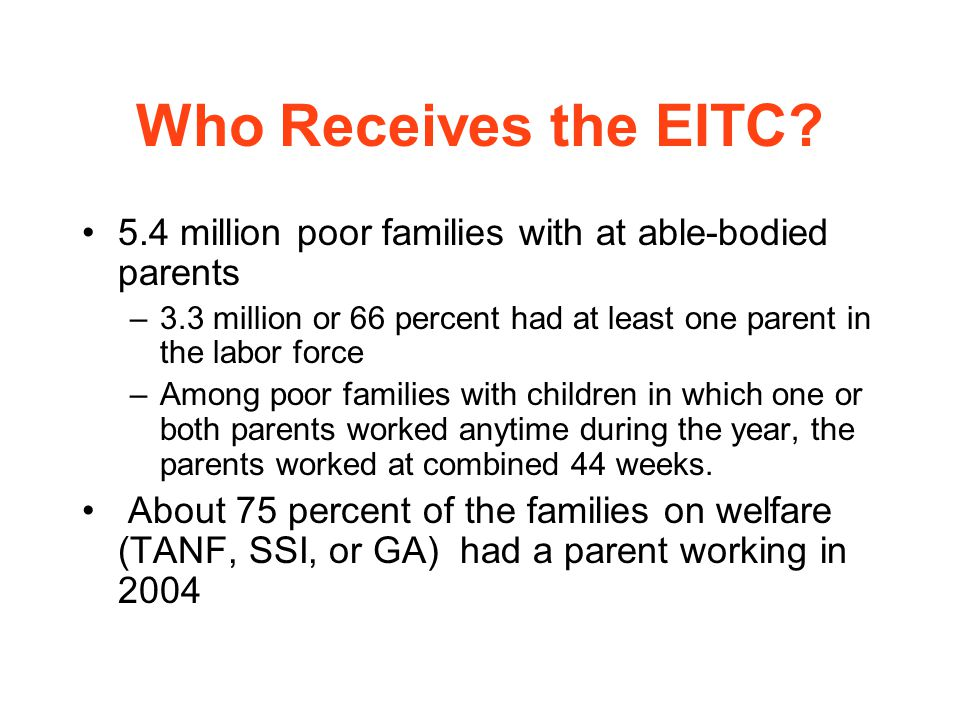 Who Receives the EITC.