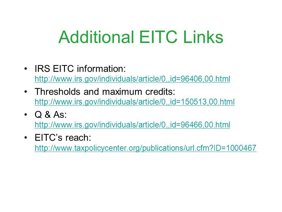 Who Receives the EITC?