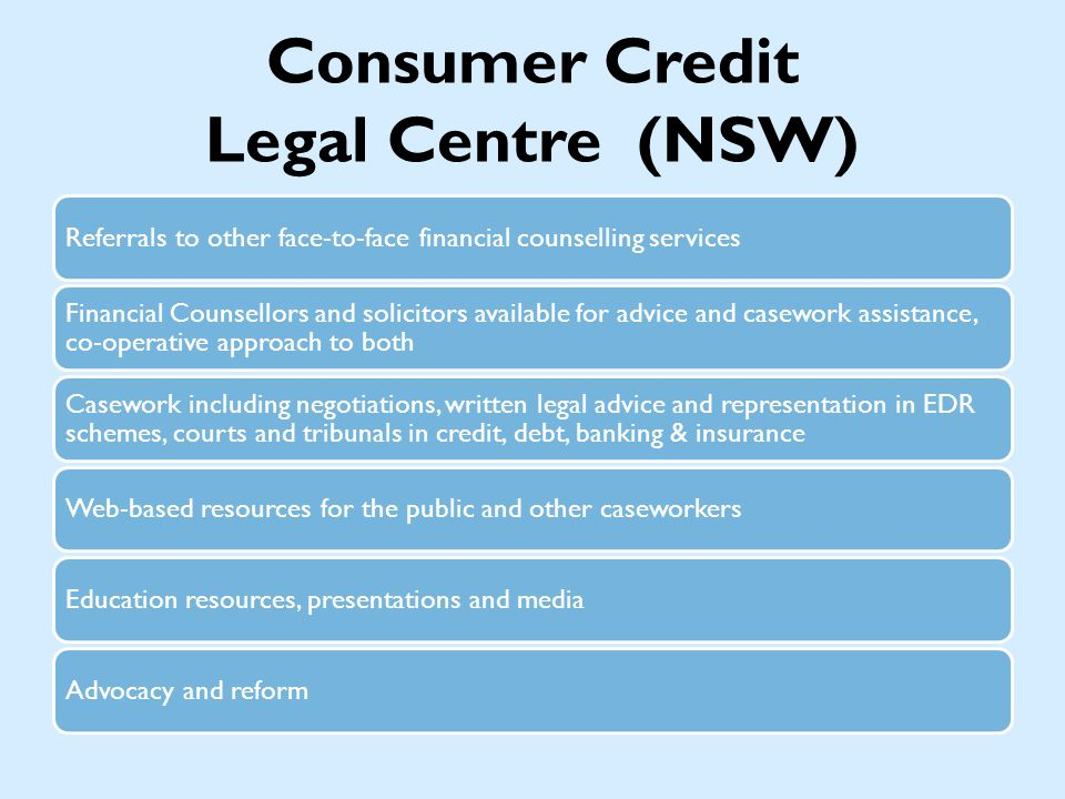 Responsible Lending The NCCP has created responsible lending obligations.