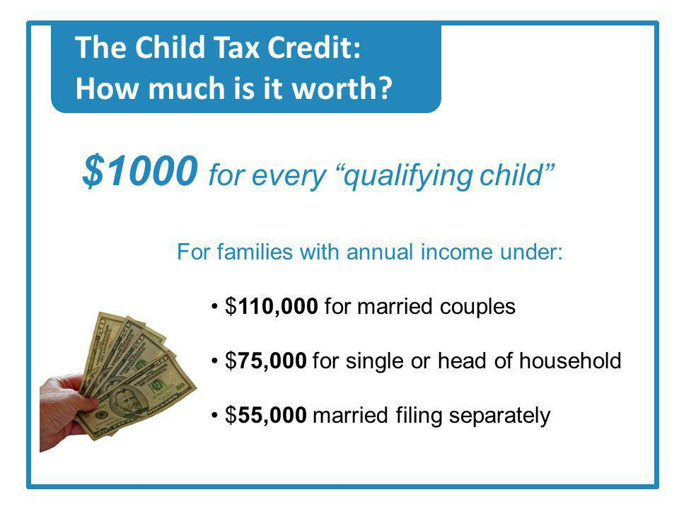 The Child Tax Credit: How much is it worth.