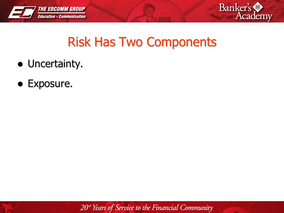 Page 3 Risk Has Two Components Uncertainty. Uncertainty. Exposure. Exposure.