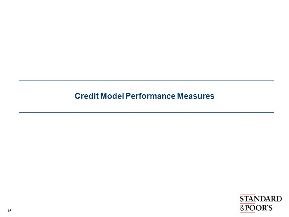 16. Credit Model Performance Measures