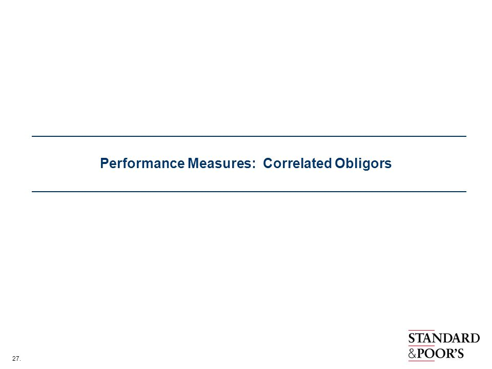 27. Performance Measures: Correlated Obligors