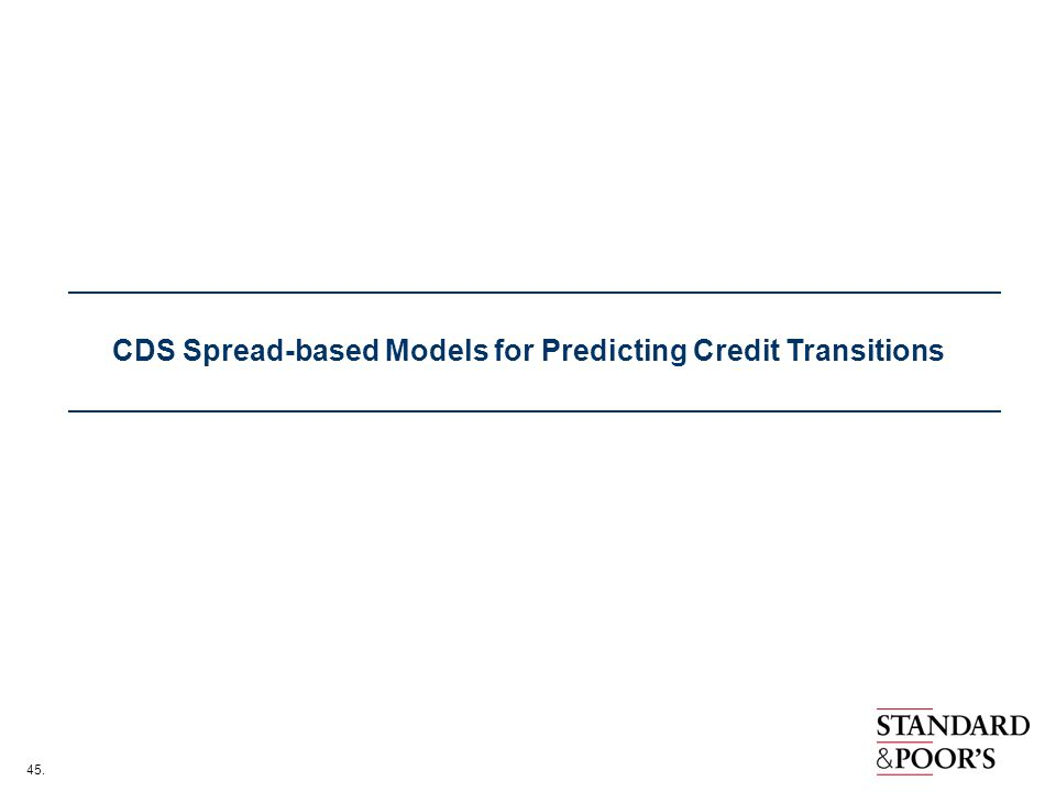 45. CDS Spread-based Models for Predicting Credit Transitions