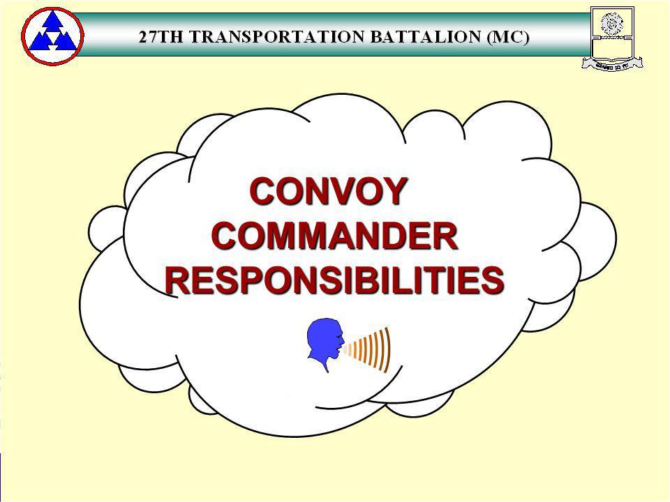 CONVOYCOMMANDERRESPONSIBILITIES