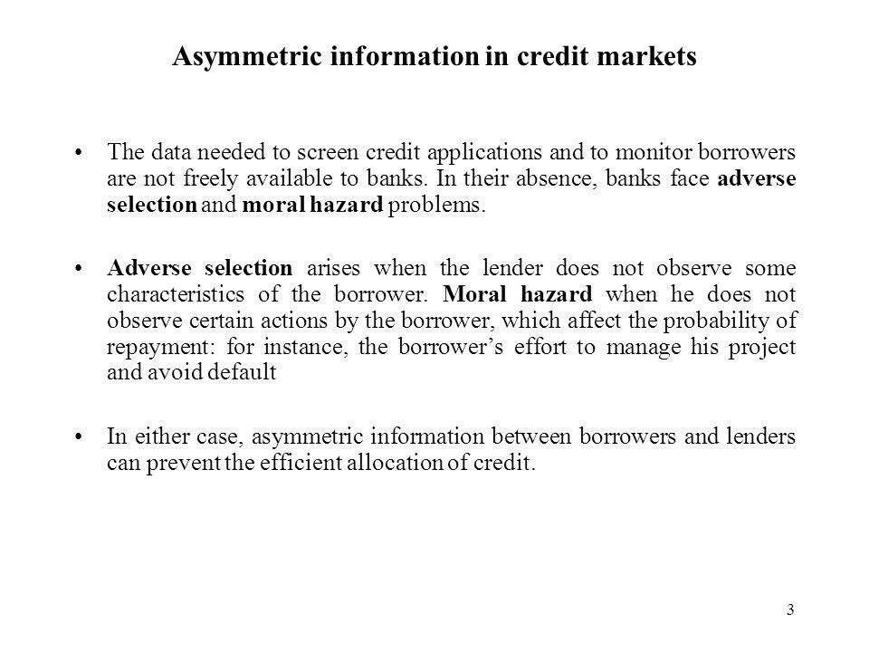 4 How can banks mitigate adverse selection and moral hazard problems.