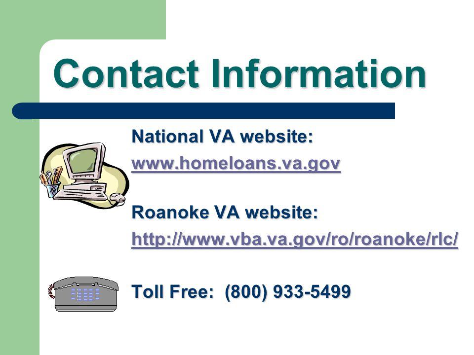 VA Guaranteed Home Loans Roanoke VA Regional Loan Center Compliments of Roanoke and Cleveland RLC