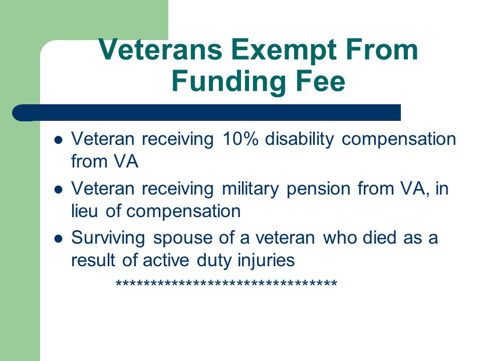 VA FUNDING FEE Funding fee can be added to the based loan amount Funding fee can be added to the based loan amount Funding fee amount varies depending