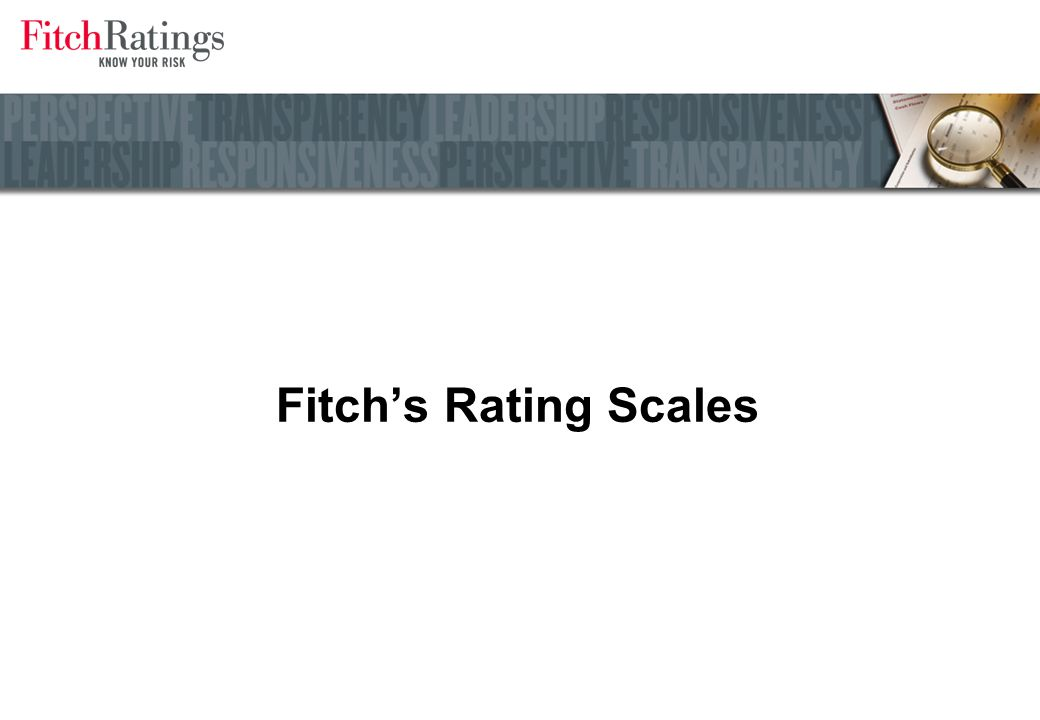 Fitchs Rating Scales
