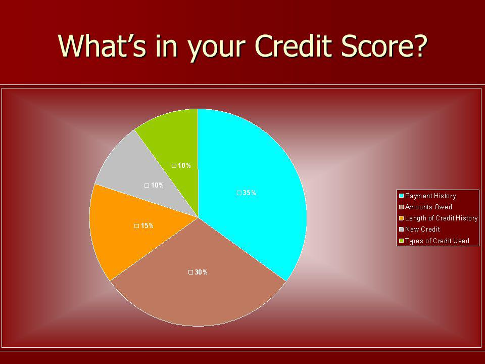 Whats in your Credit Score