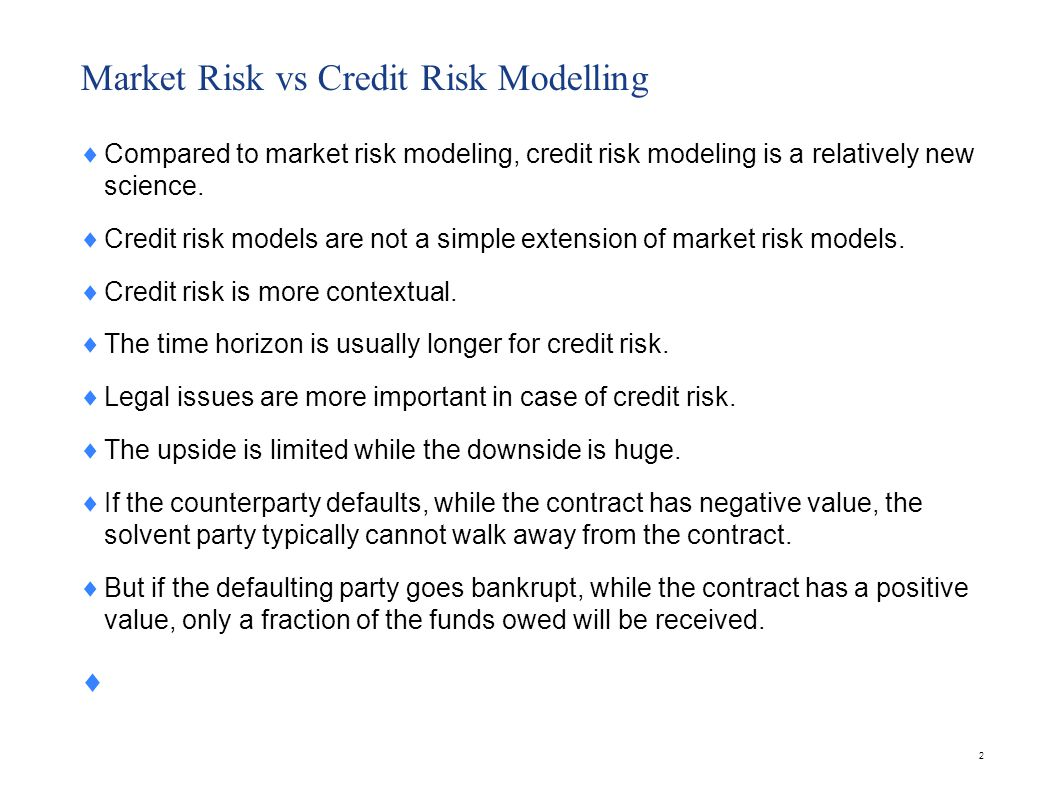 23 Credit Risk Models Merton Moody s KMV Credit Metrics Credit Risk+