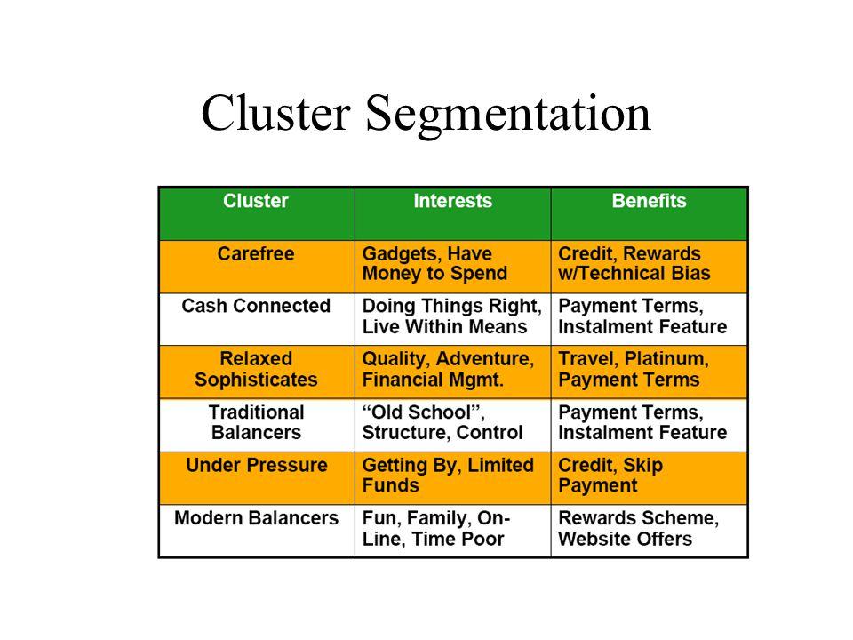 Cluster Segmentation