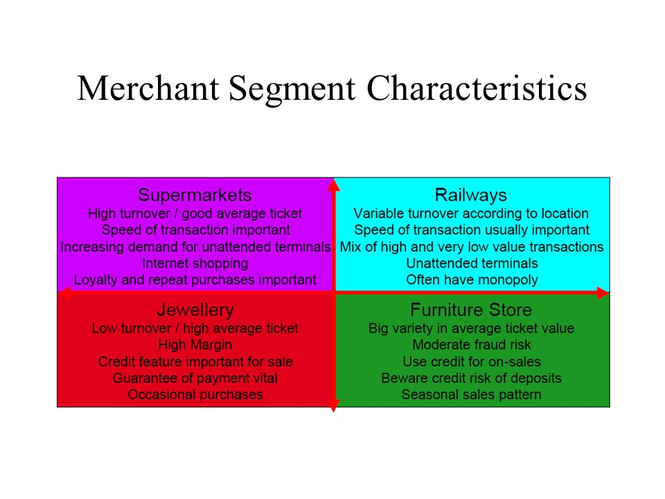 Merchant Segment Characteristics