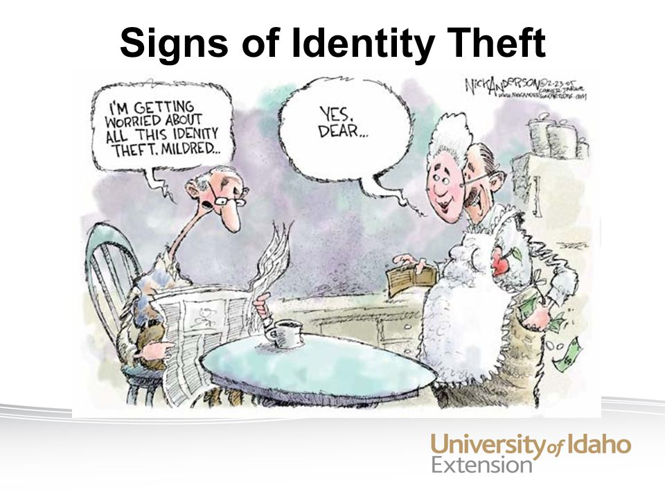 Signs of Identity Theft