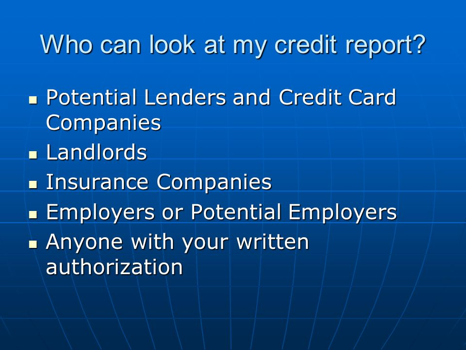 Credit Reports & Credit Scores Recommended to check credit reports and scores once a year with each credit bureau: Recommended to check credit reports and scores once a year with each credit bureau: Equifax Equifax Transunion Transunion Experian Experian