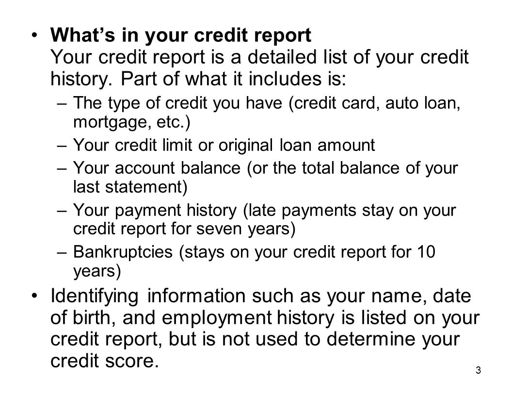 14 Top Misconceptions About Scores (cont) My score will drop if I check my credit report.