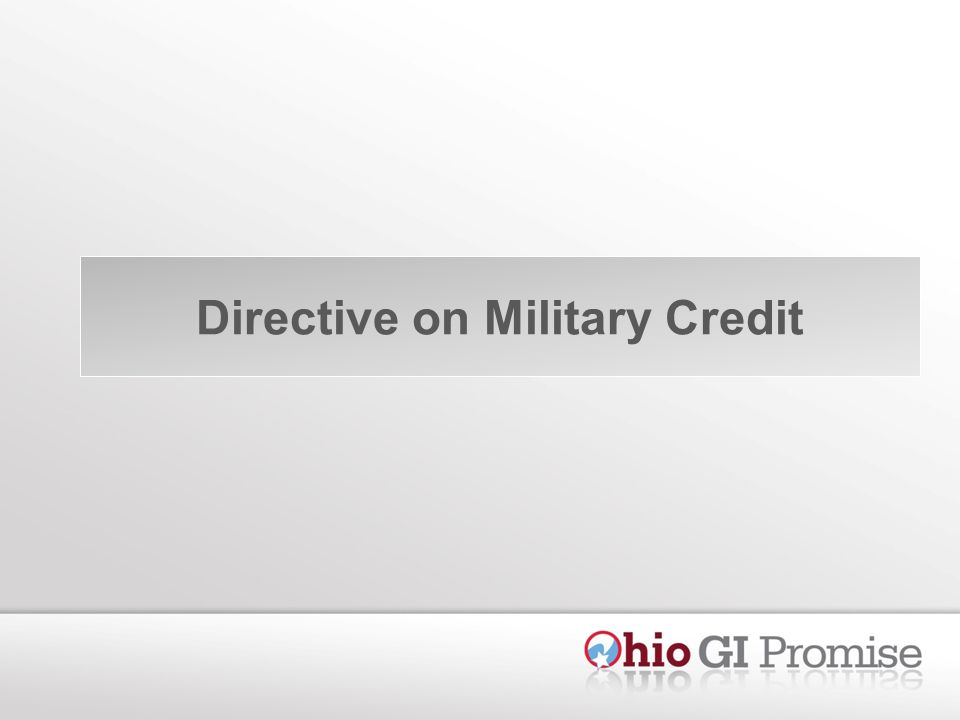 Directive on Military Credit