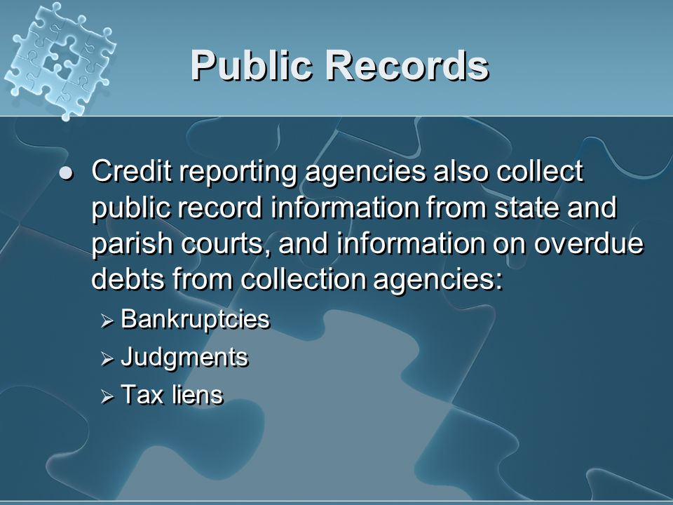 Accounts or Trade lines Lenders report which accounts & what type of account you have with them: Bank card, auto loan, mortgage, etc. When it was open