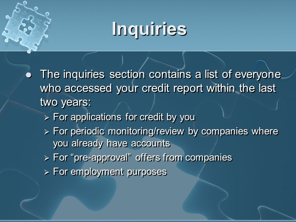 Public Records Credit reporting agencies also collect public record information from state and parish courts, and information on overdue debts from co